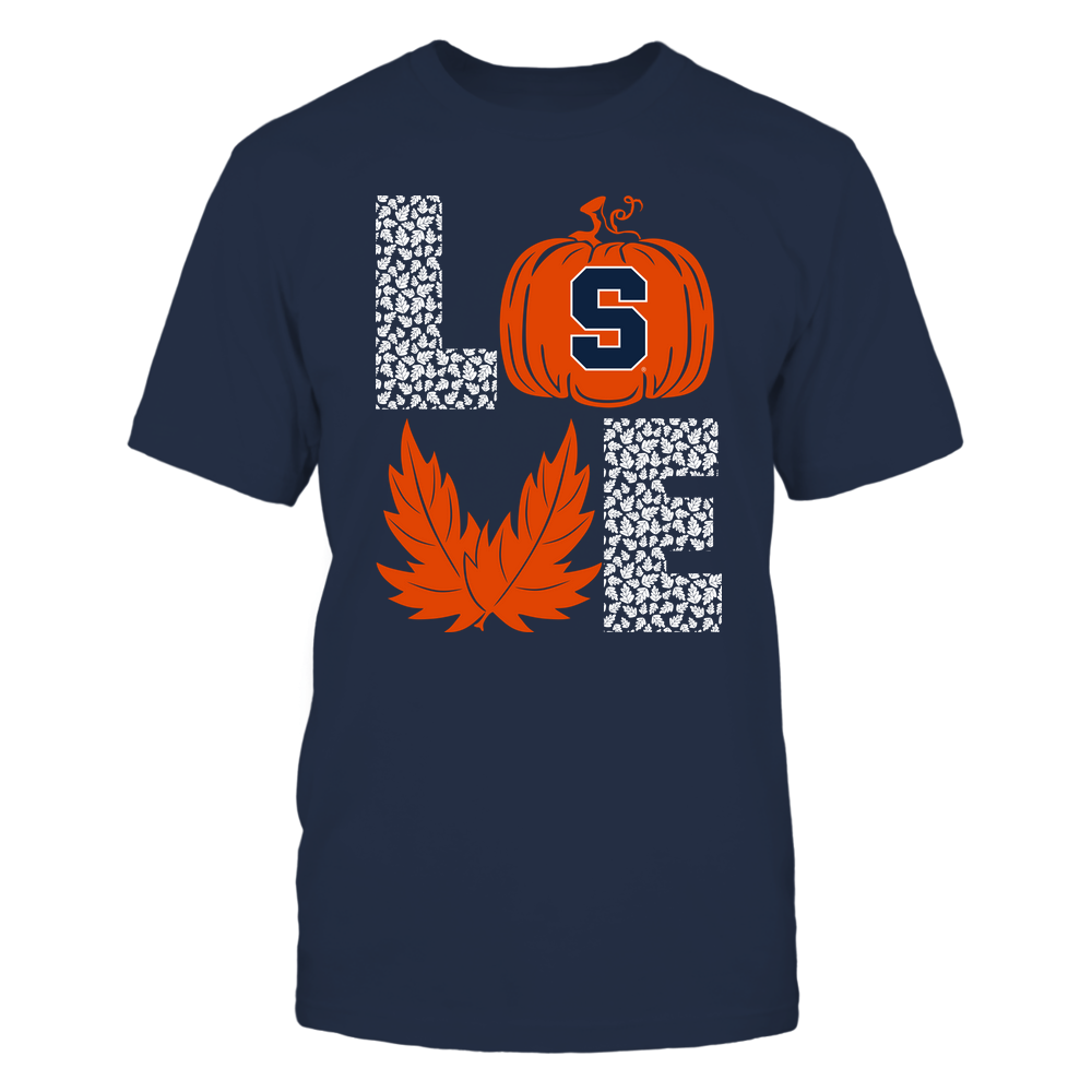 Syracuse Orange - Stacked Love  - Fall - Leaf Pumpkin Front picture