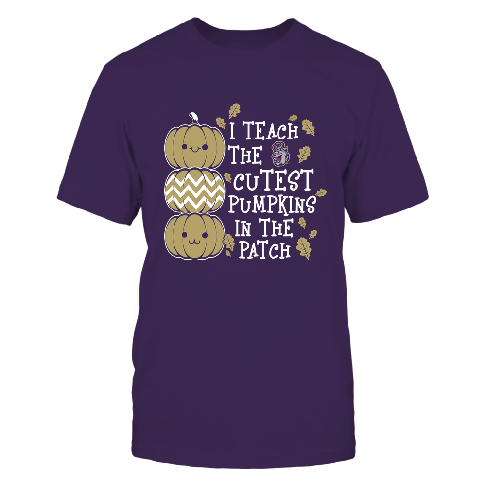 James Madison Dukes - Teacher - I Teach The Cutest Pumpkins In The Patch - Fall Front picture