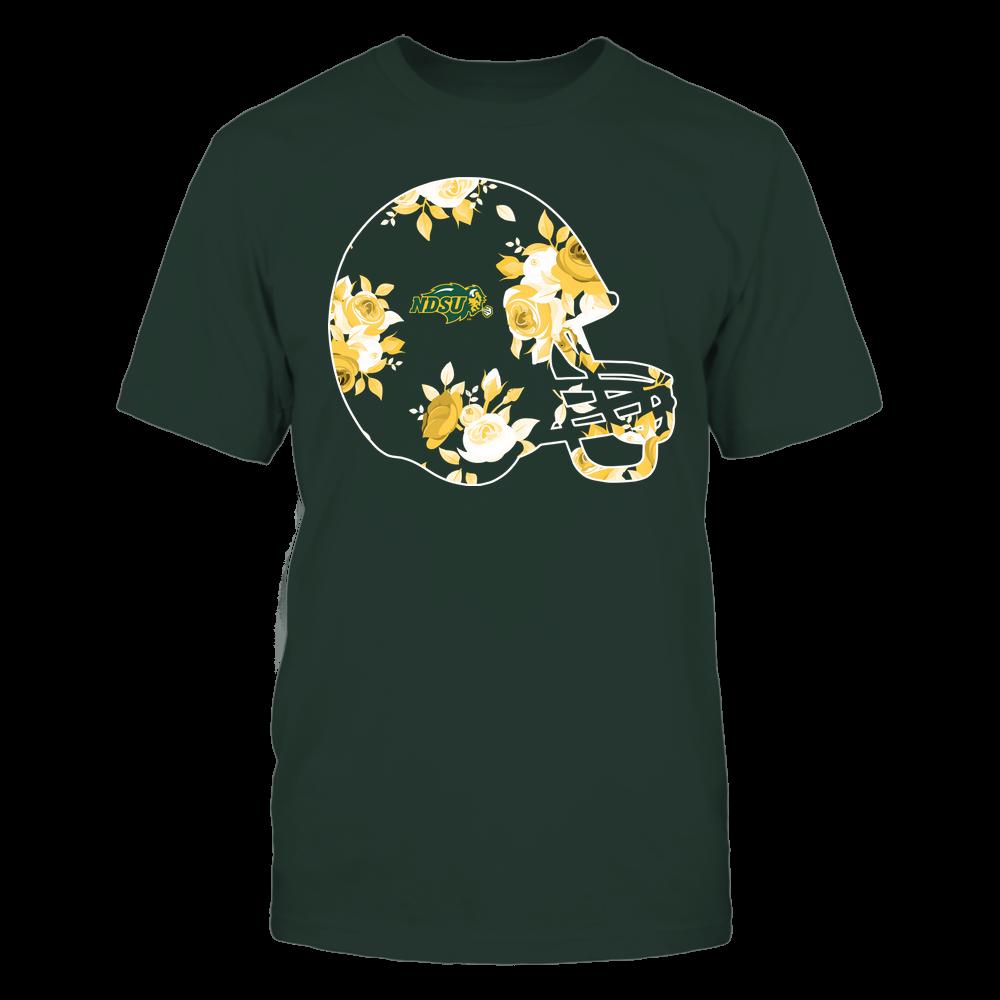 North Dakota State Bison - Football Helmet - Rose Pattern Front picture