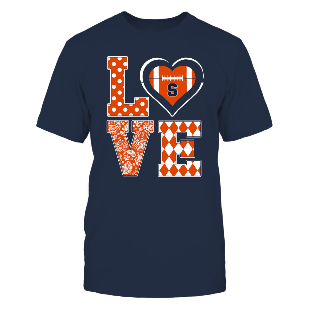 Syracuse Orange - Stacked Love - Football Heart - Team Front picture