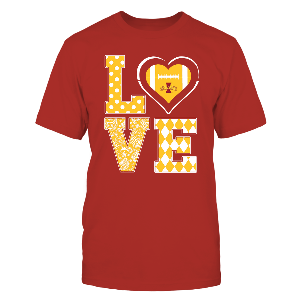 Iowa State Cyclones - Stacked Love - Football Heart - Team Front picture