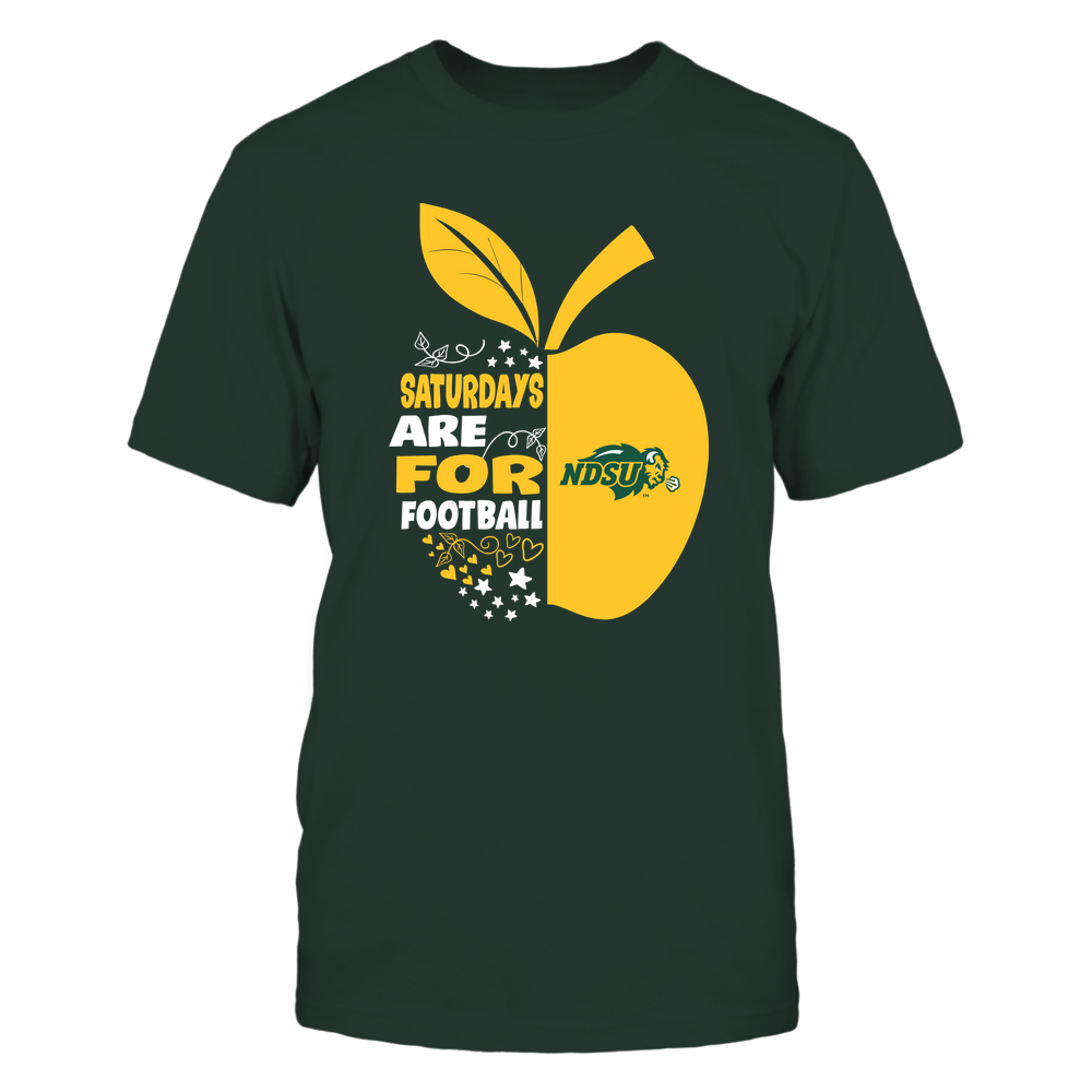 North Dakota State Bison - Teacher Apple - Saturdays Are For Football - Team Front picture