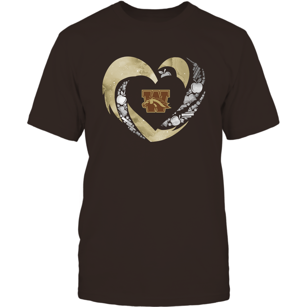 Western Michigan Broncos - Hurricane Heart - Teacher Things Inside Front picture