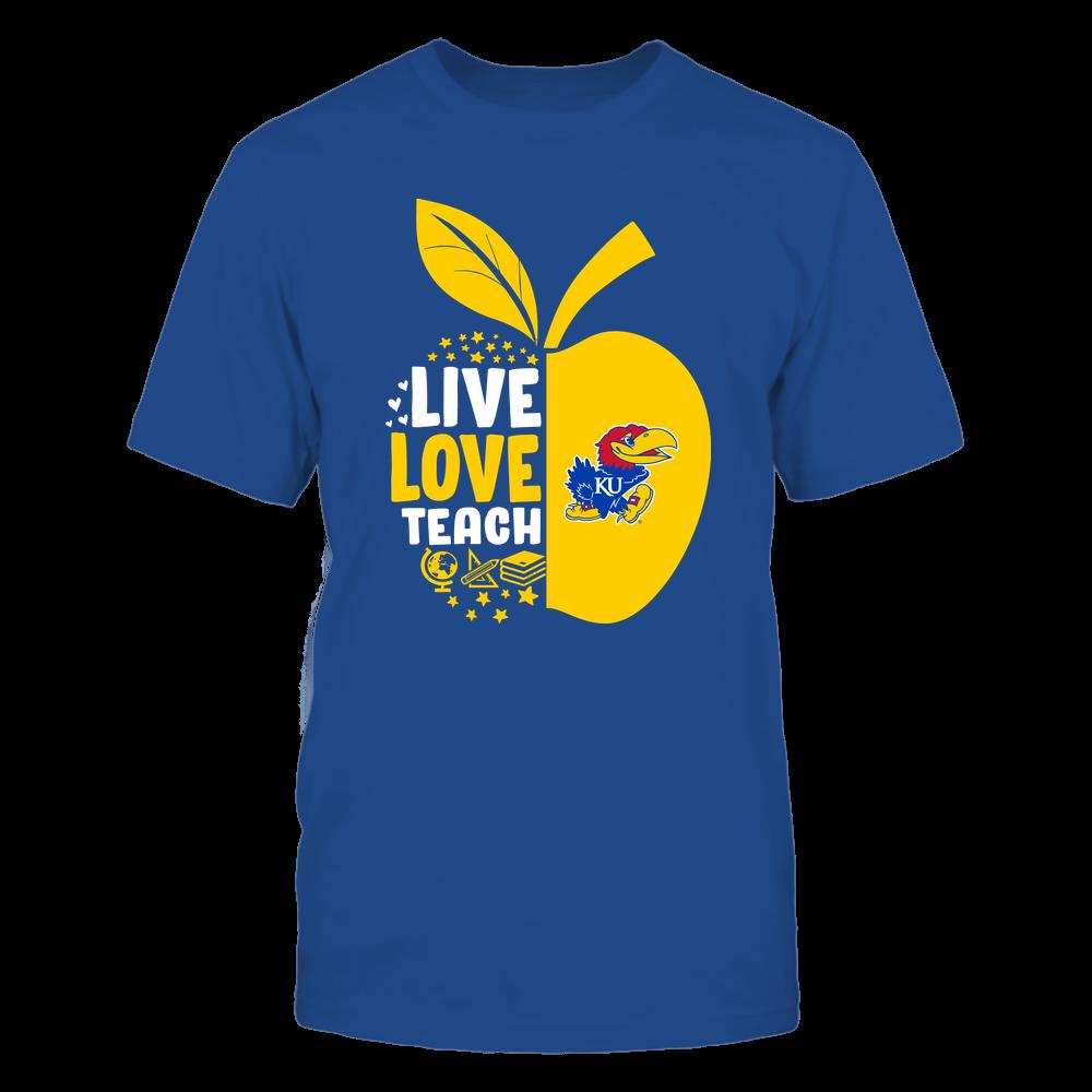 Kansas Jayhawks - Teacher Apple - Live Love Teach - Team Front picture