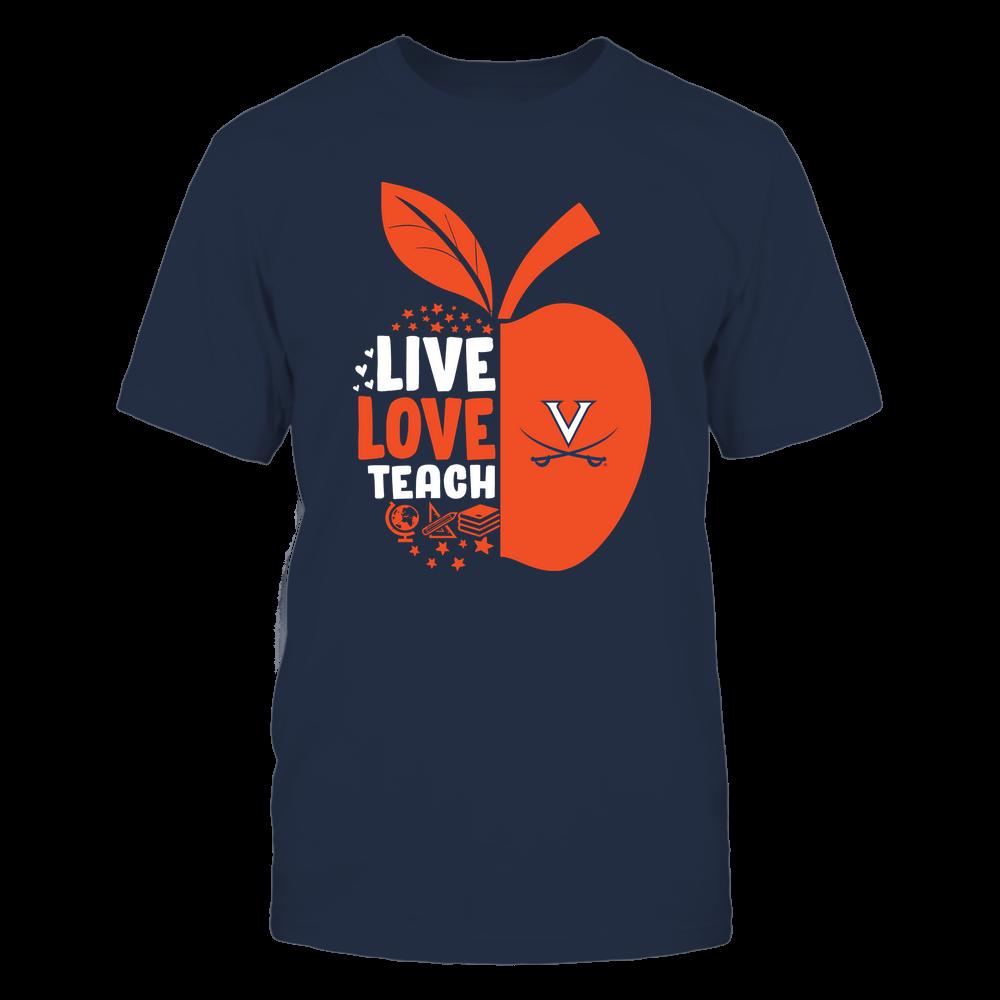 Virginia Cavaliers - Teacher Apple - Live Love Teach - Team Front picture