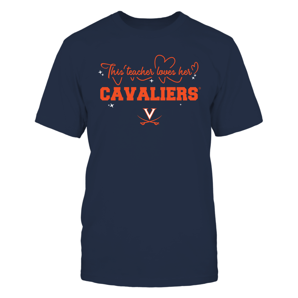 Virginia Cavaliers - This Teacher Loves Her Team - Heart Beat - Team Front picture