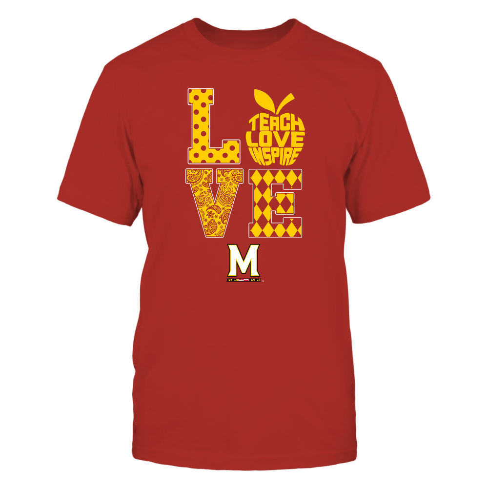 Maryland Terrapins - Stacked Love - Teach Love Inspire Inside Apple Front picture