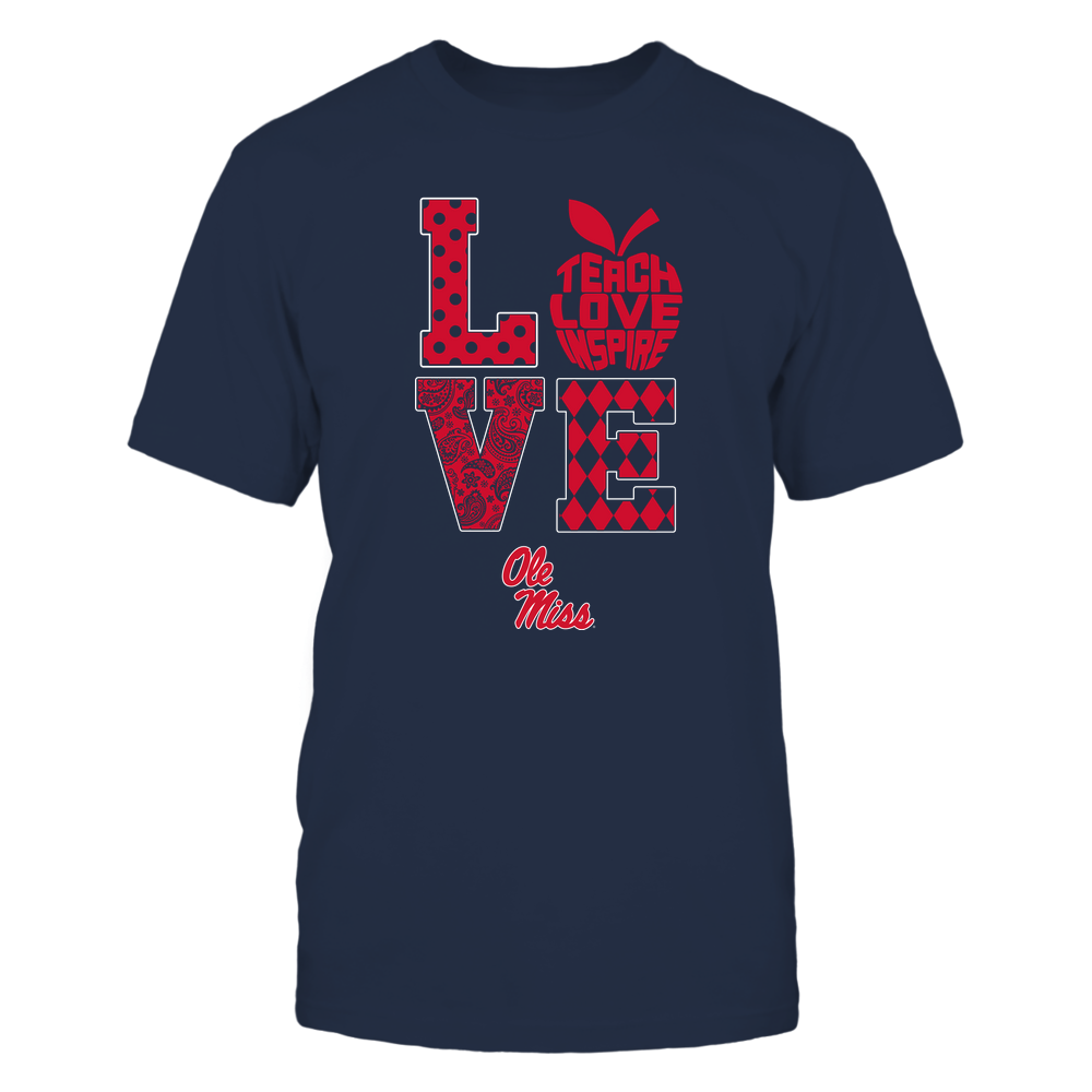 Ole Miss Rebels - Stacked Love - Teach Love Inspire Inside Apple Front picture