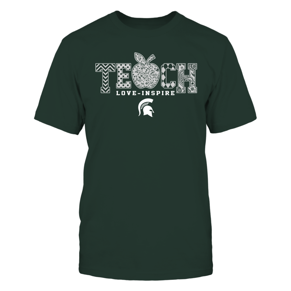 Michigan State Spartans - Teach Love Inspire - Apple Pattern - Team Front picture