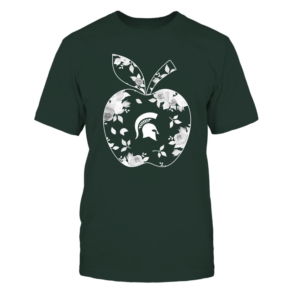 Michigan State Spartans - Teacher - Rose Pattern Apple - Team Front picture