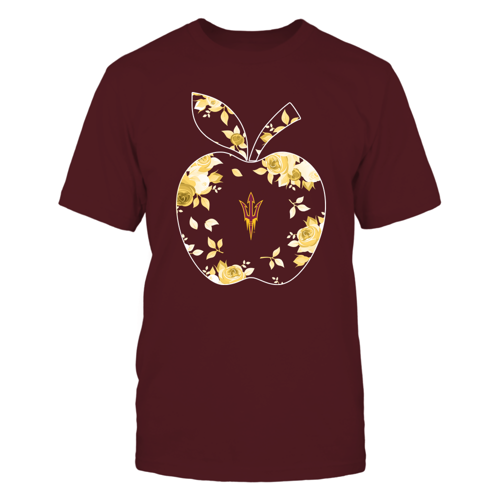 Arizona State Sun Devils - Teacher - Rose Pattern Apple - Team - IF-IC13-DS75 Front picture