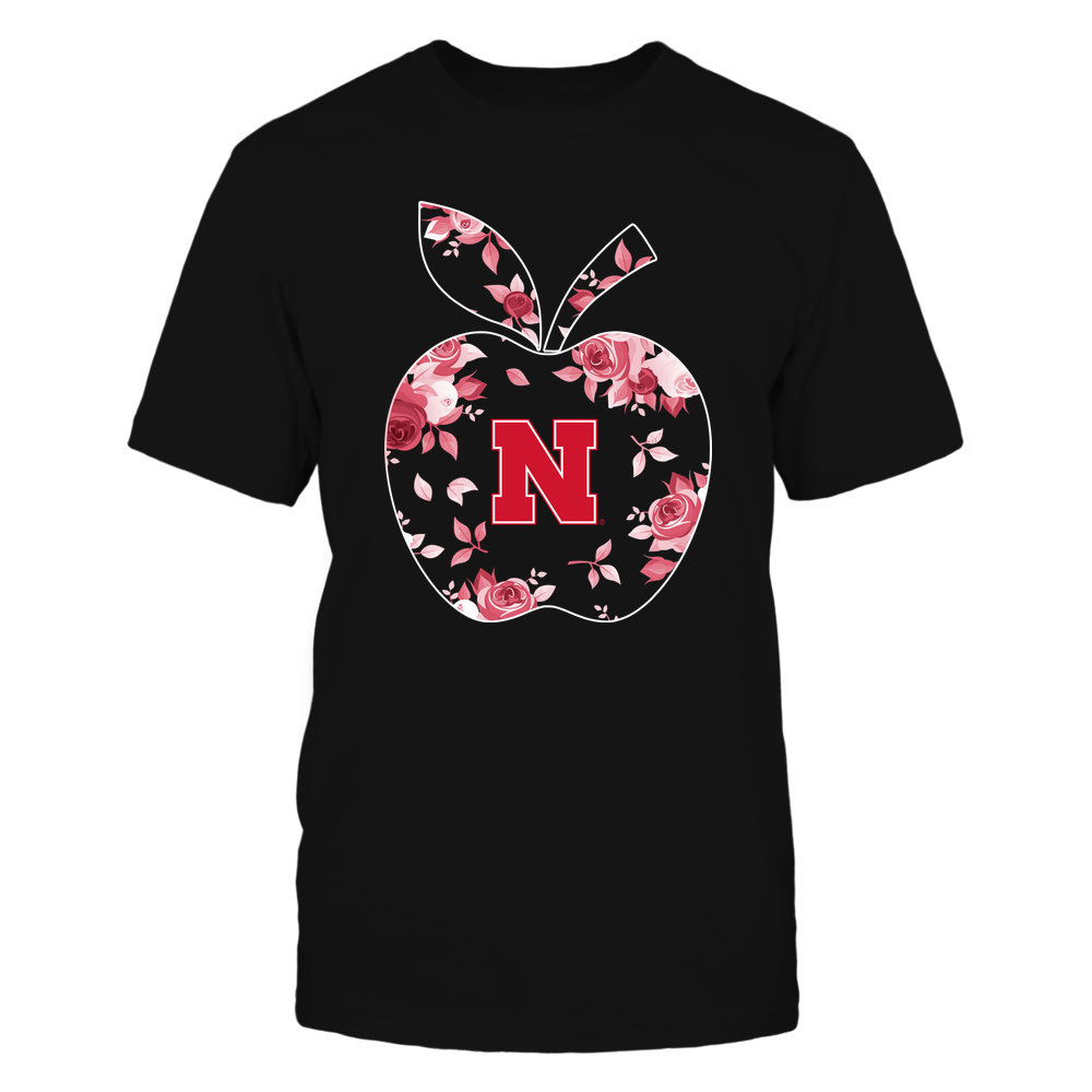 Nebraska Cornhuskers - Teacher - Rose Pattern Apple - Team - IF-IC13-DS64 Front picture
