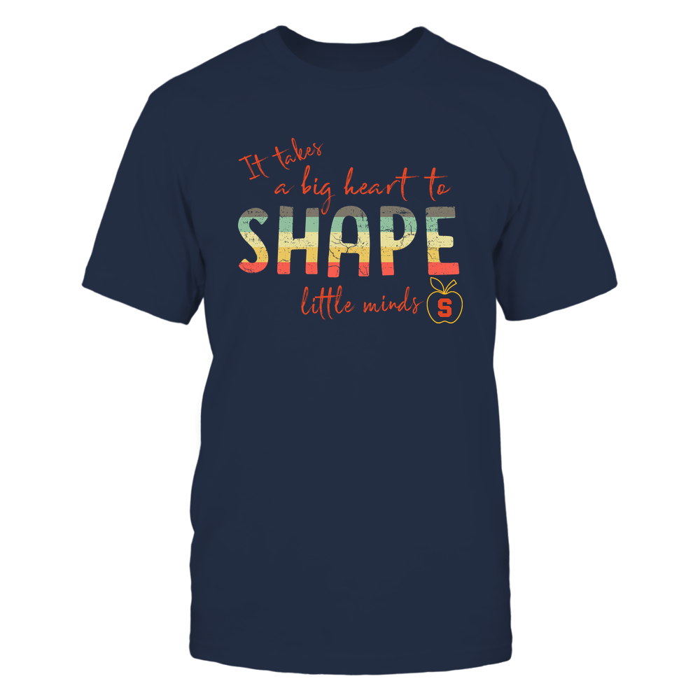 Syracuse Orange - Big-heart-to-shape-little-minds-Vintage-Apple-Team-Logo-IF78-IC78-DS83 Front picture
