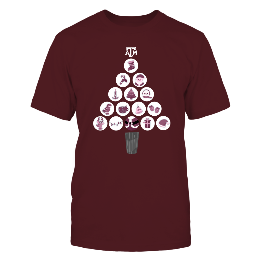 Texas A&M Aggies - Christmas-Tree-By-Circle-IF32-IC32-DS64 Front picture