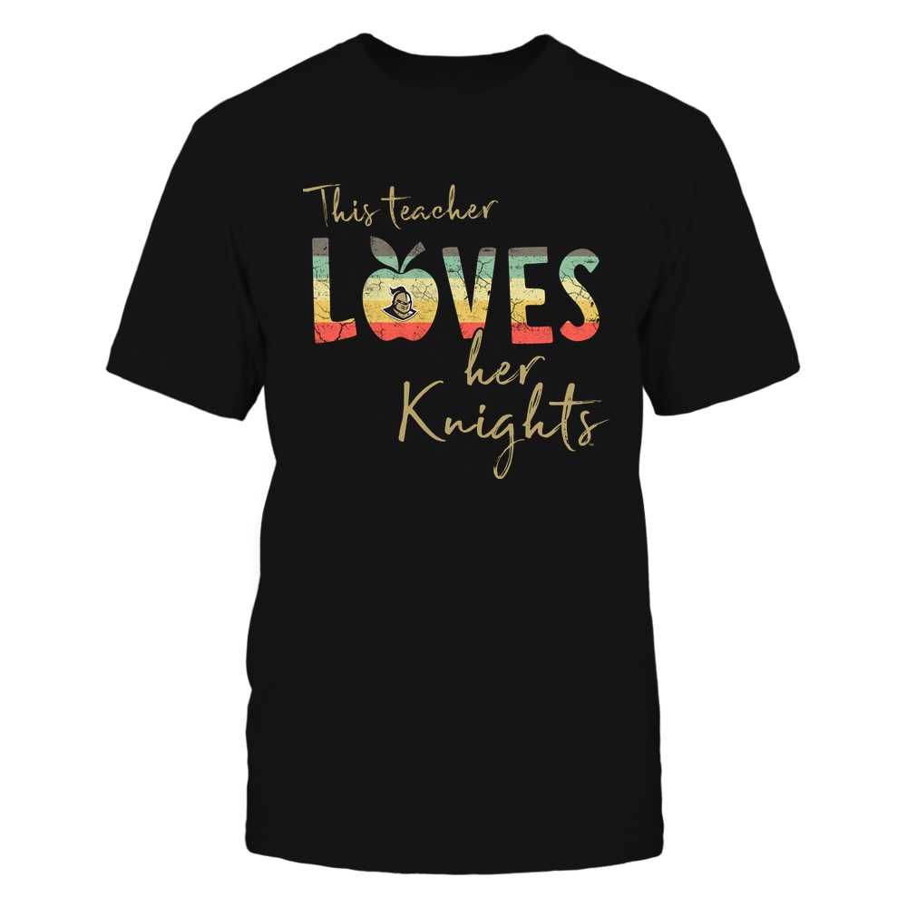 UCF Knights - This-Teacher-Loves-Her-Team-Vintage-Apple-Team-Logo-IF78-IC78-DS63 Front picture