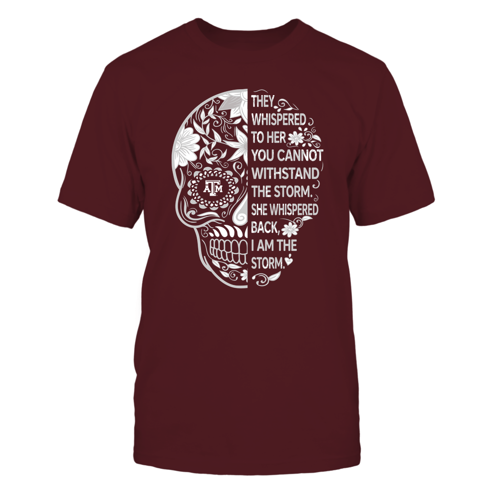 Texas A&M Aggies - 19092310107-Half Sugar Skull - I Am The Storm - APCX - IF-IC13-DS27 Front picture
