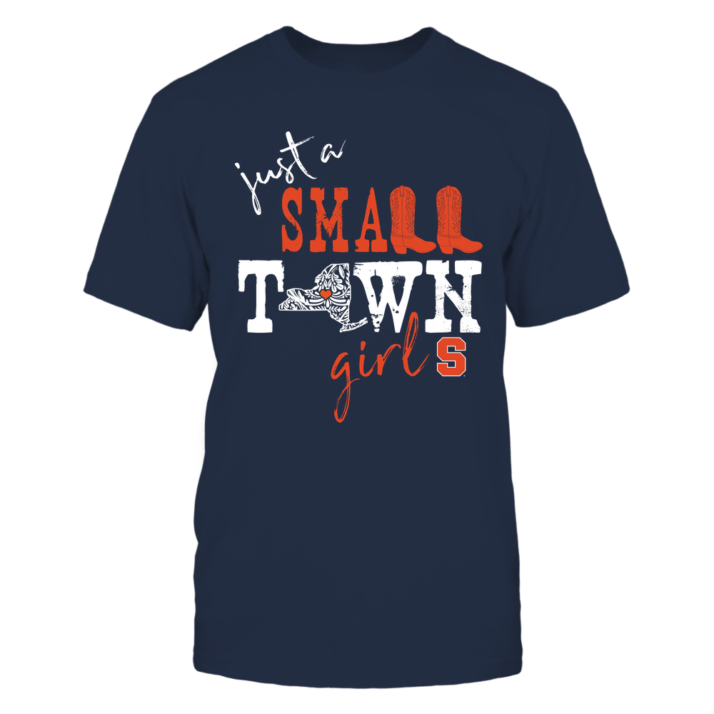 Syracuse Orange - Small-Town-Girl-Pattern-Heart-IF78-IC78-DS37 Front picture