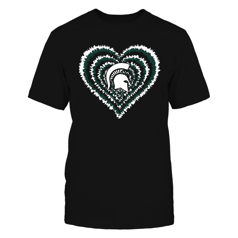 Michigan State Spartans - Tie-Dye-Heart-IF32-IC32-DS27 Front picture