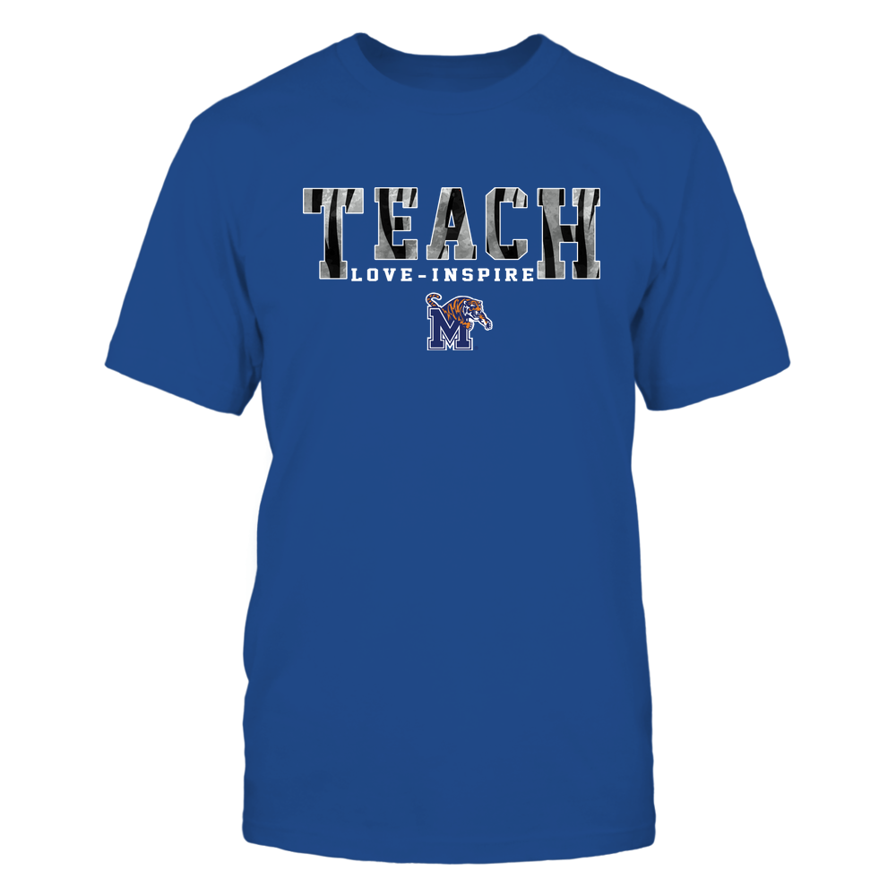 Memphis Tigers - Teach-Love-Inspire-Stripe-Pattern-IF78-IC78-DS85 Front picture