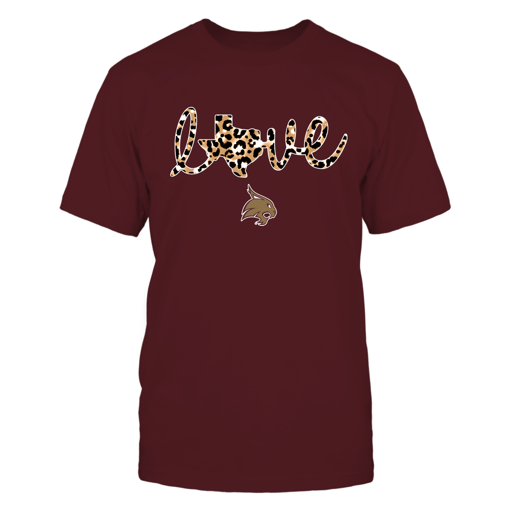 Texas State Bobcats - State-Love-Leopard-Pattern-IF13-IC13-DS85 Front picture