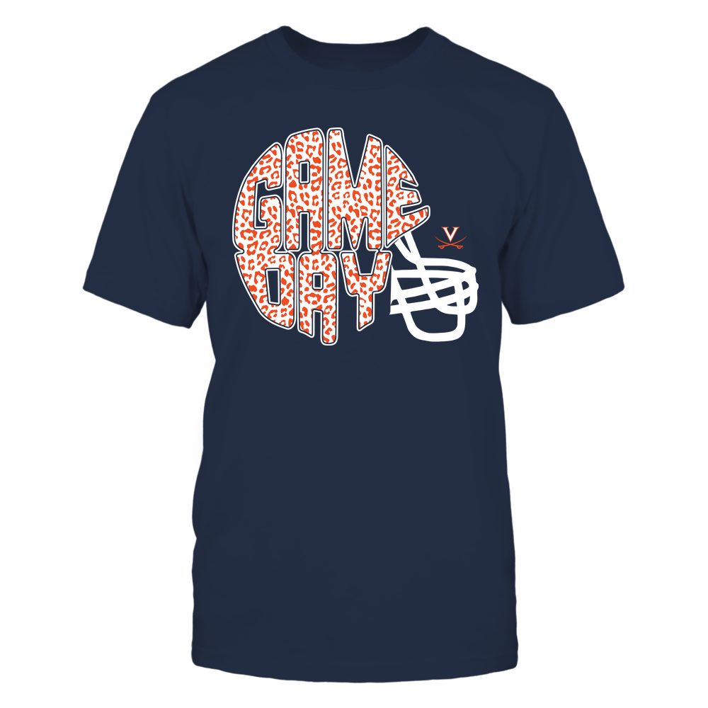 Virginia Cavaliers - Game day - Inside Helmet - Leopard Pattern Front picture