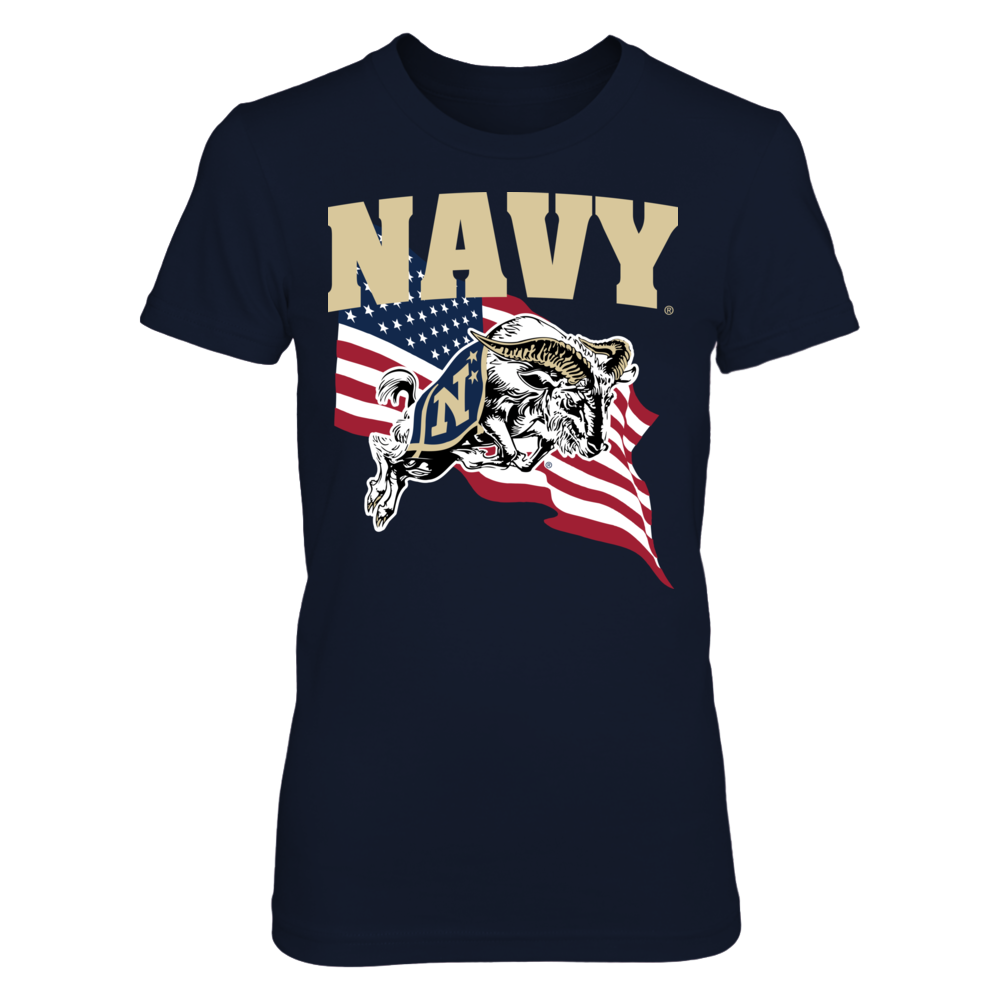 Navy Midshipmen - US Flag Front picture