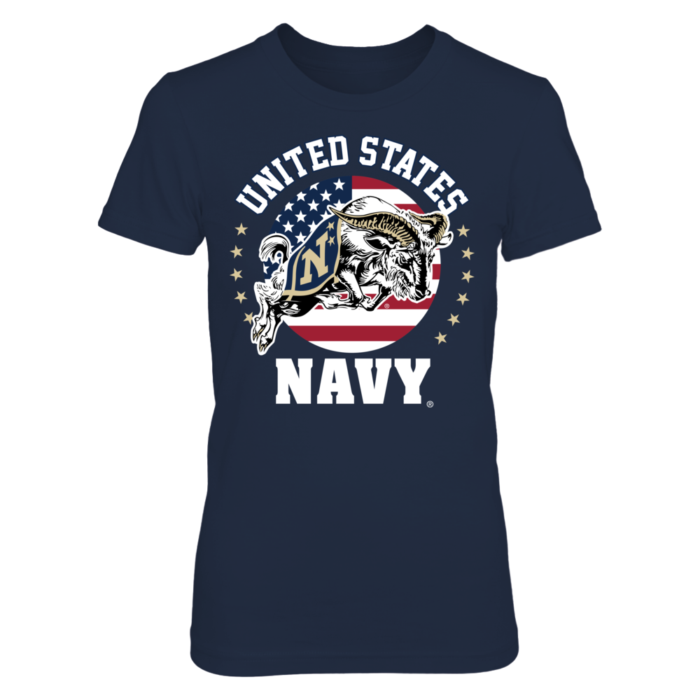 Navy Midshipmen - US Flag Crest Front picture