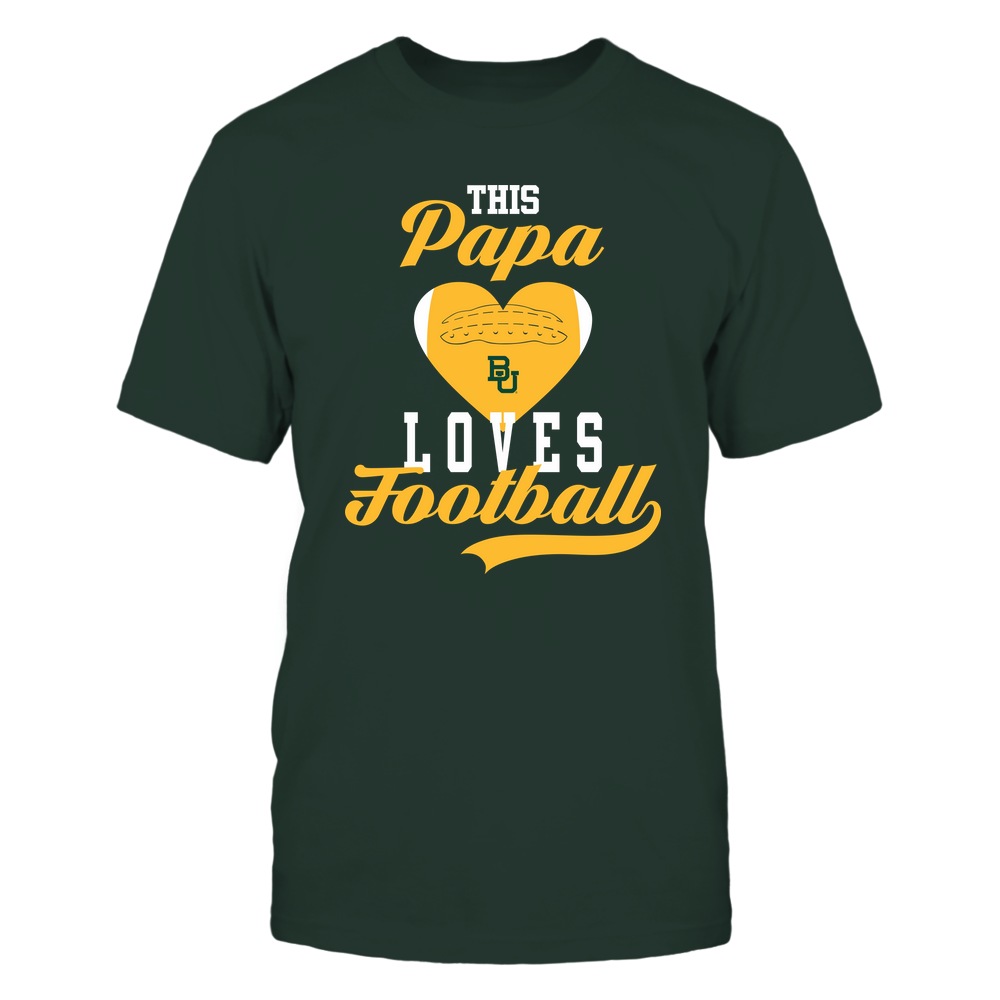 Baylor Bears - This Papa Loves Football - Football Heart Front picture