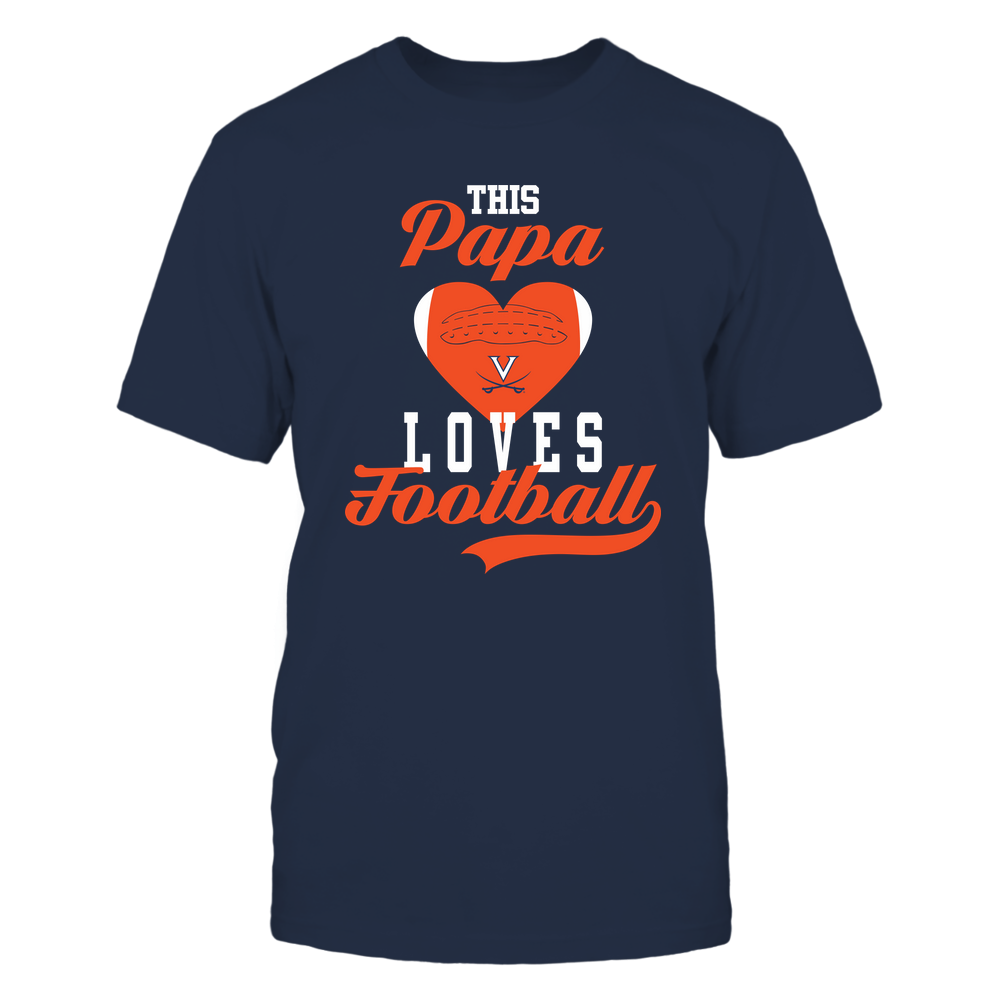 Virginia Cavaliers - This Papa Loves Football - Football Heart Front picture