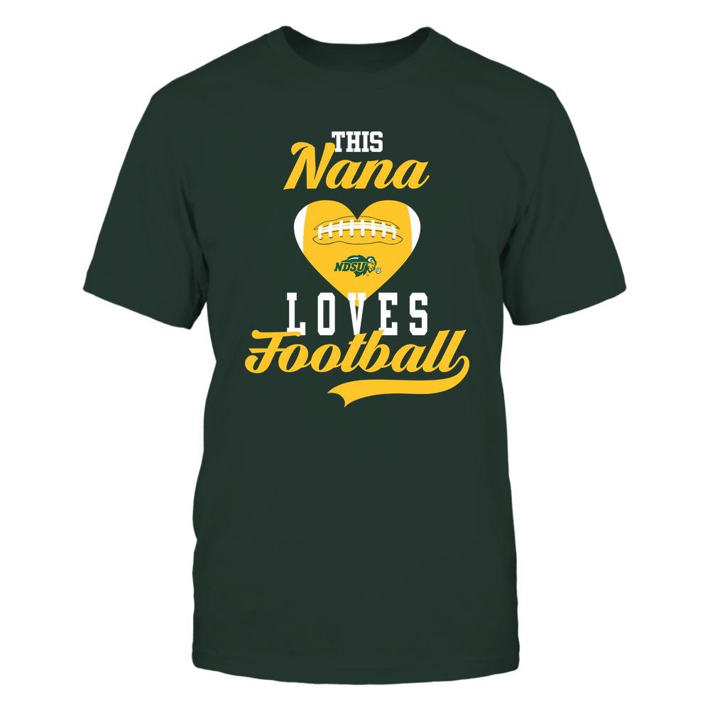North Dakota State Bison - This Nana Loves Football - Football Heart Front picture