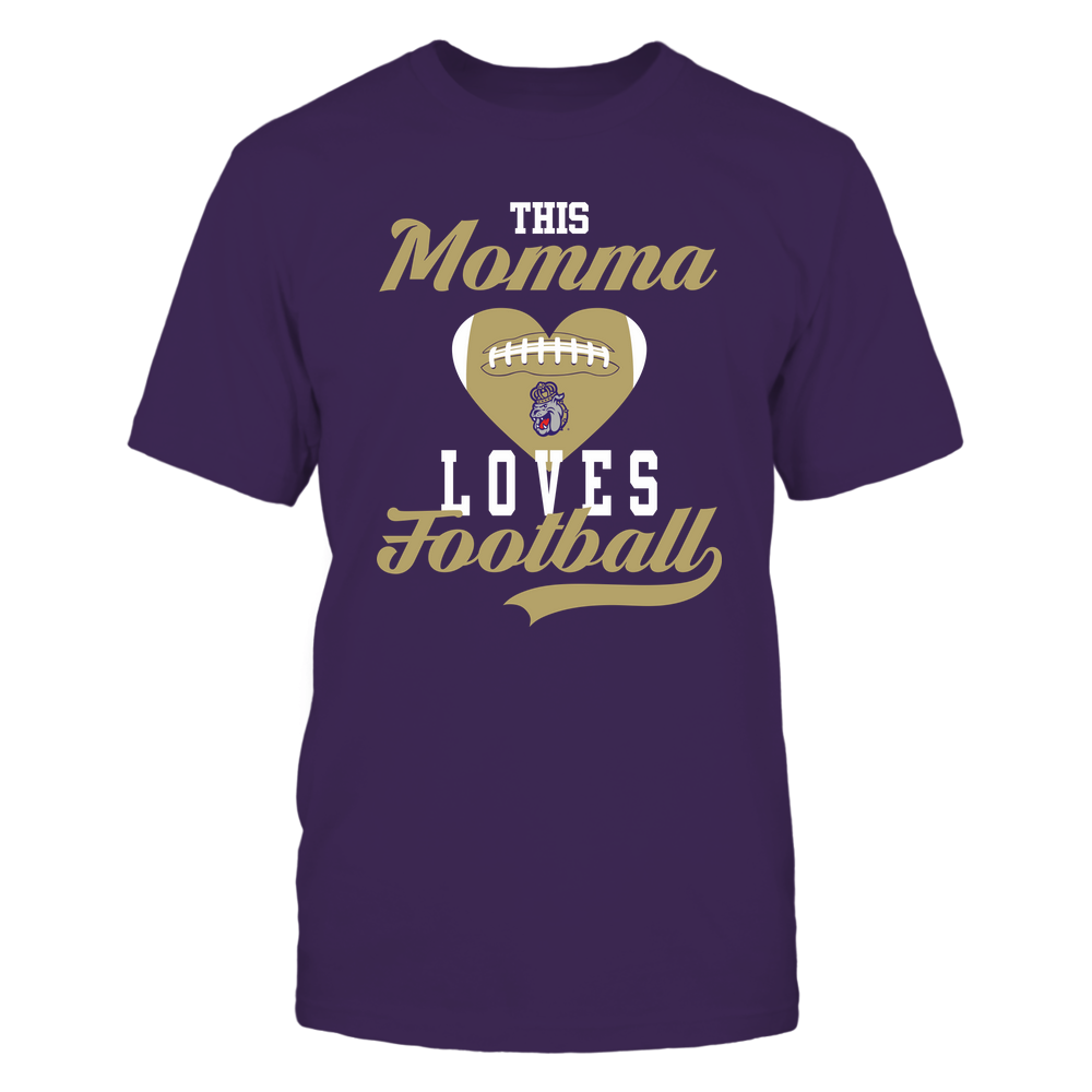 James Madison Dukes - This Momma Loves Football - Football Heart Front picture