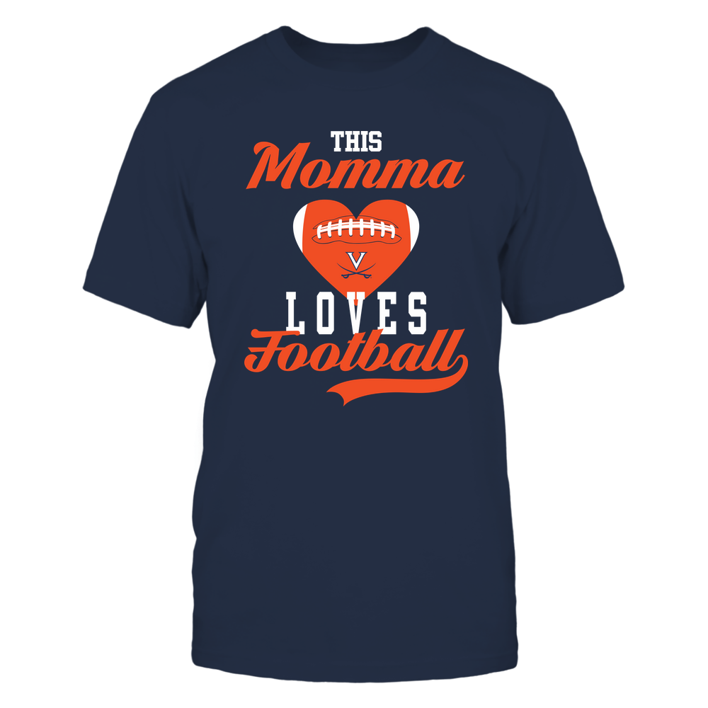 Virginia Cavaliers - This Momma Loves Football - Football Heart Front picture