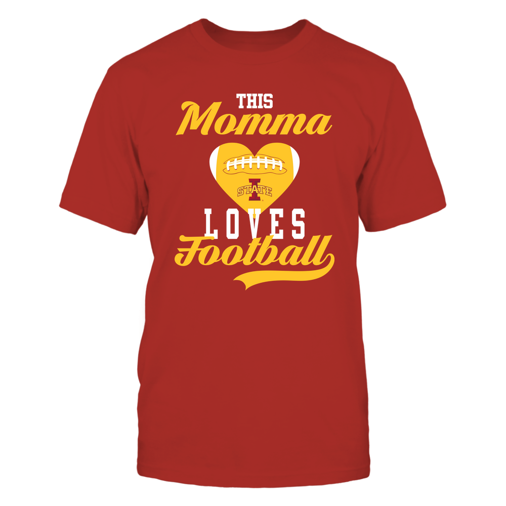 Iowa State Cyclones - This Momma Loves Football - Football Heart Front picture