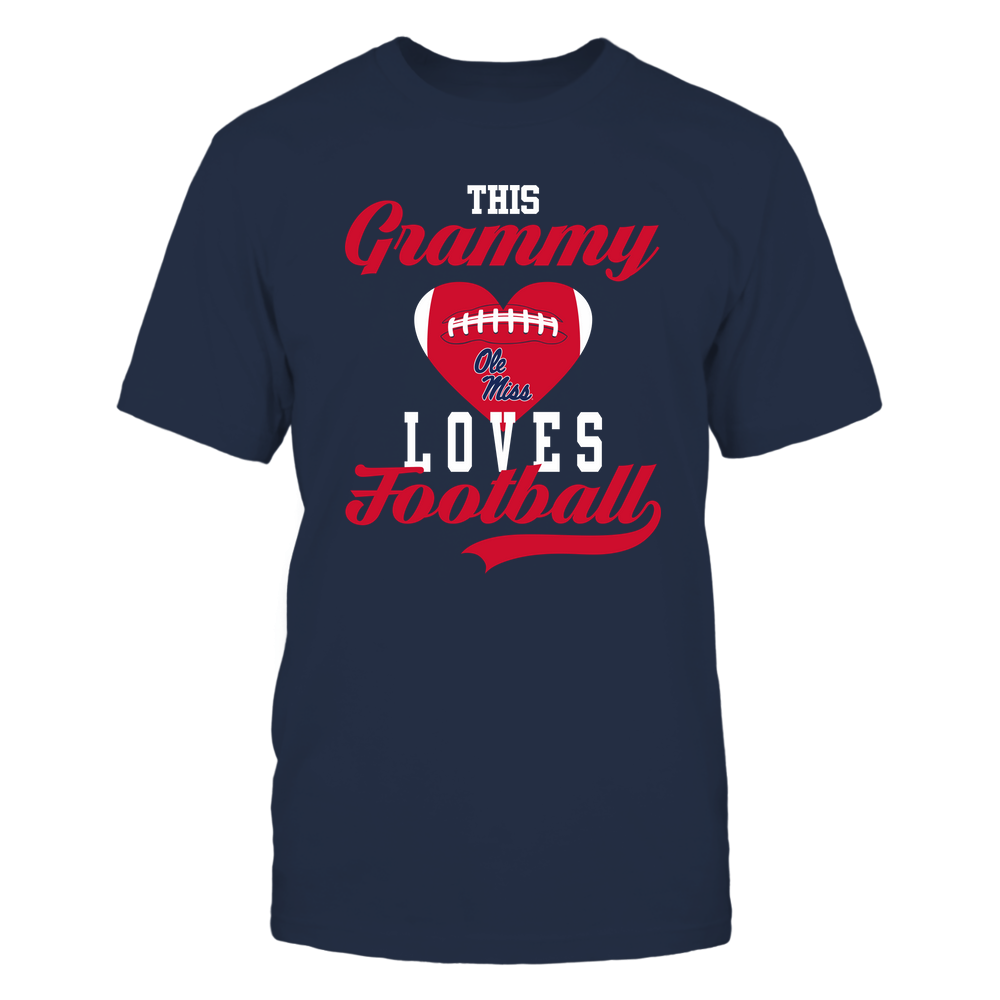 Ole Miss Rebels - This Grammy Loves Football - Football Heart Front picture