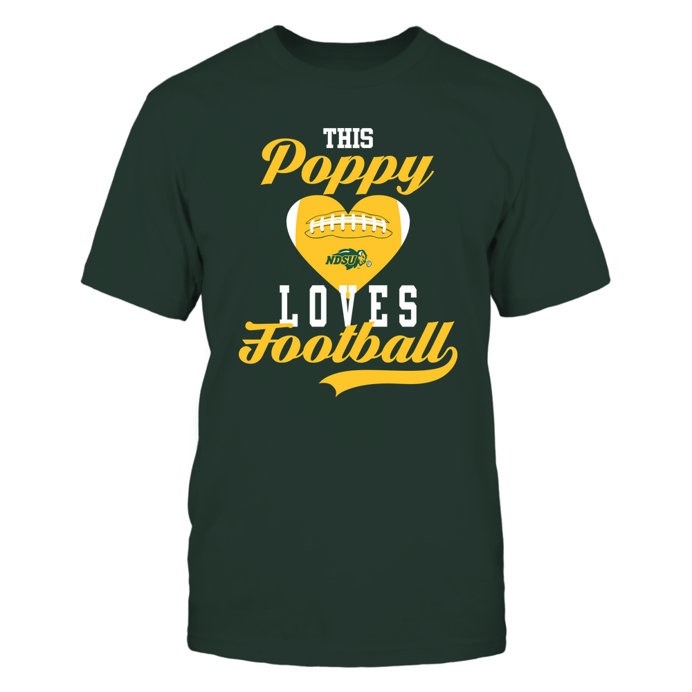 North Dakota State Bison - This Poppy Loves Football - Football Heart Front picture