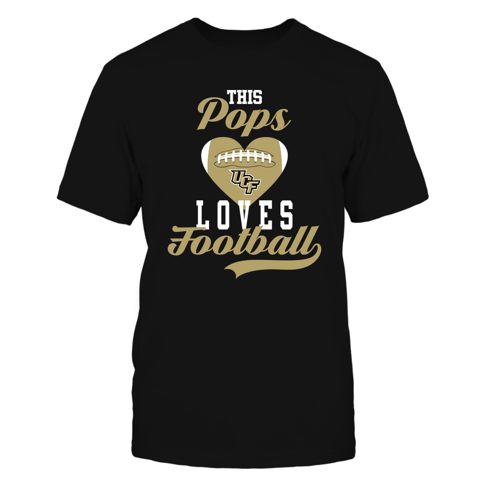 UCF Knights - This Pops Loves Football - Football Heart Front picture