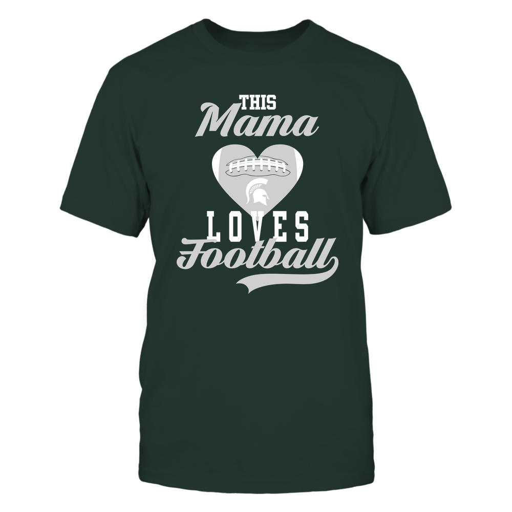 Michigan State Spartans - This Mama Loves Football - Football Heart Front picture