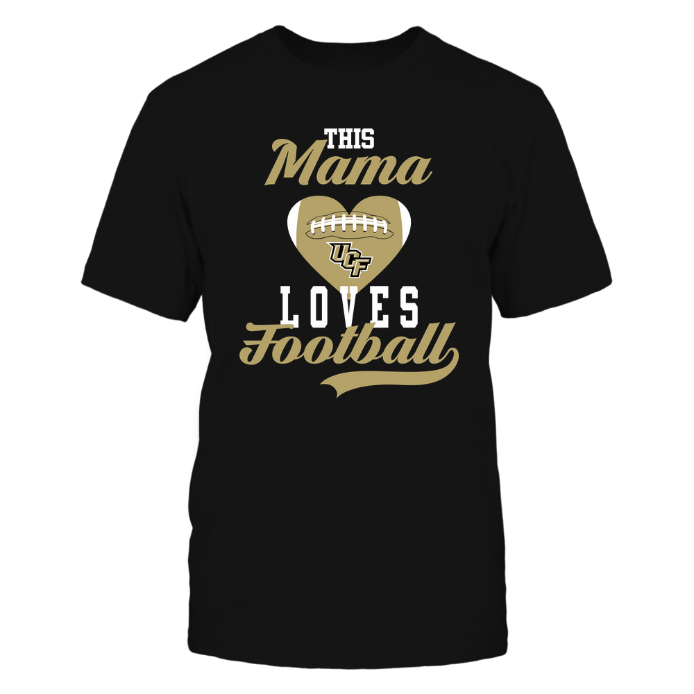 UCF Knights - This Mama Loves Football - Football Heart Front picture