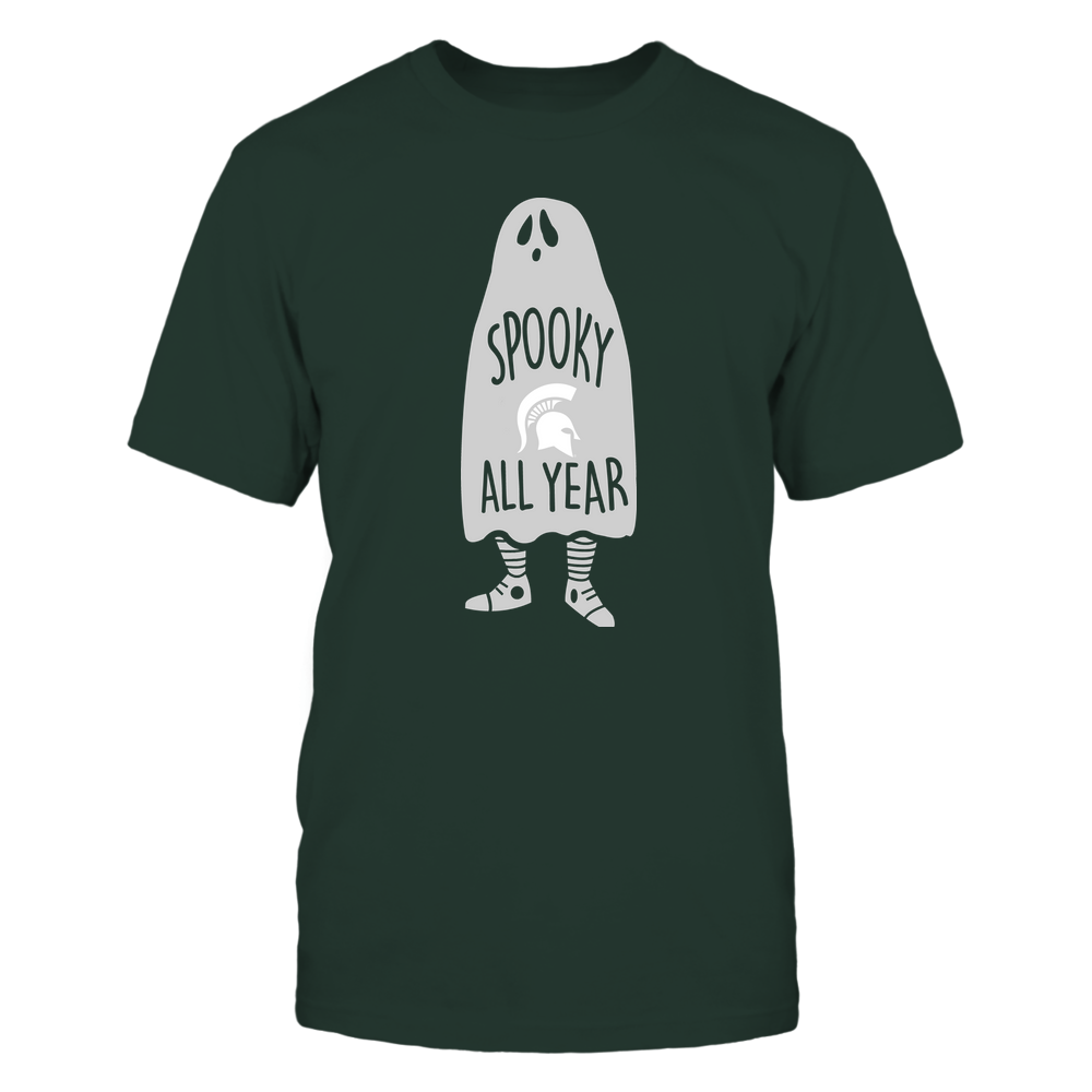 Michigan State Spartans - Halloween - Spooky All Year Ghost - Team Front picture