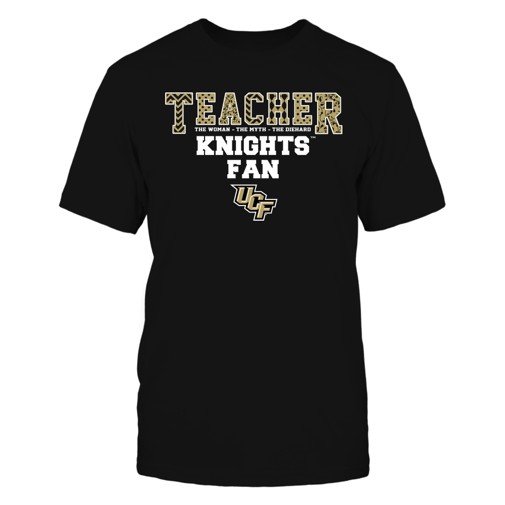 UCF Knights - Teacher - The Woman The Myth The Legend - Slogan Pattern Front picture
