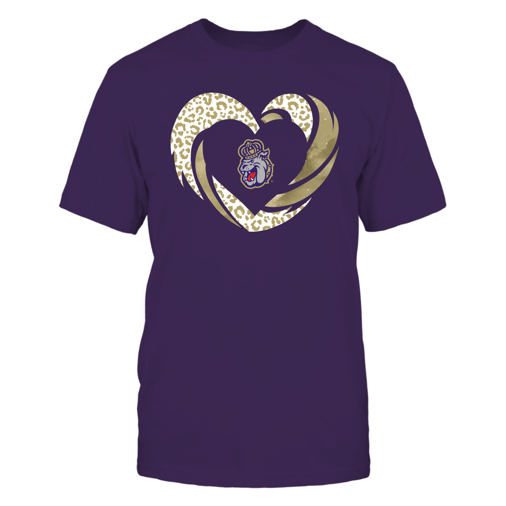 James Madison Dukes - Hurricane Heart - Leopard Pattern - Team Front picture