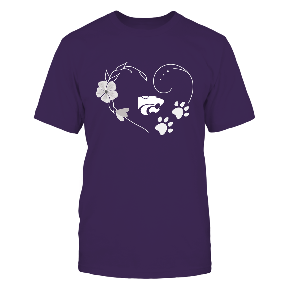 Kansas State Wildcats - Flower-Heart-Paw-IF32-IC32-DS64 Front picture
