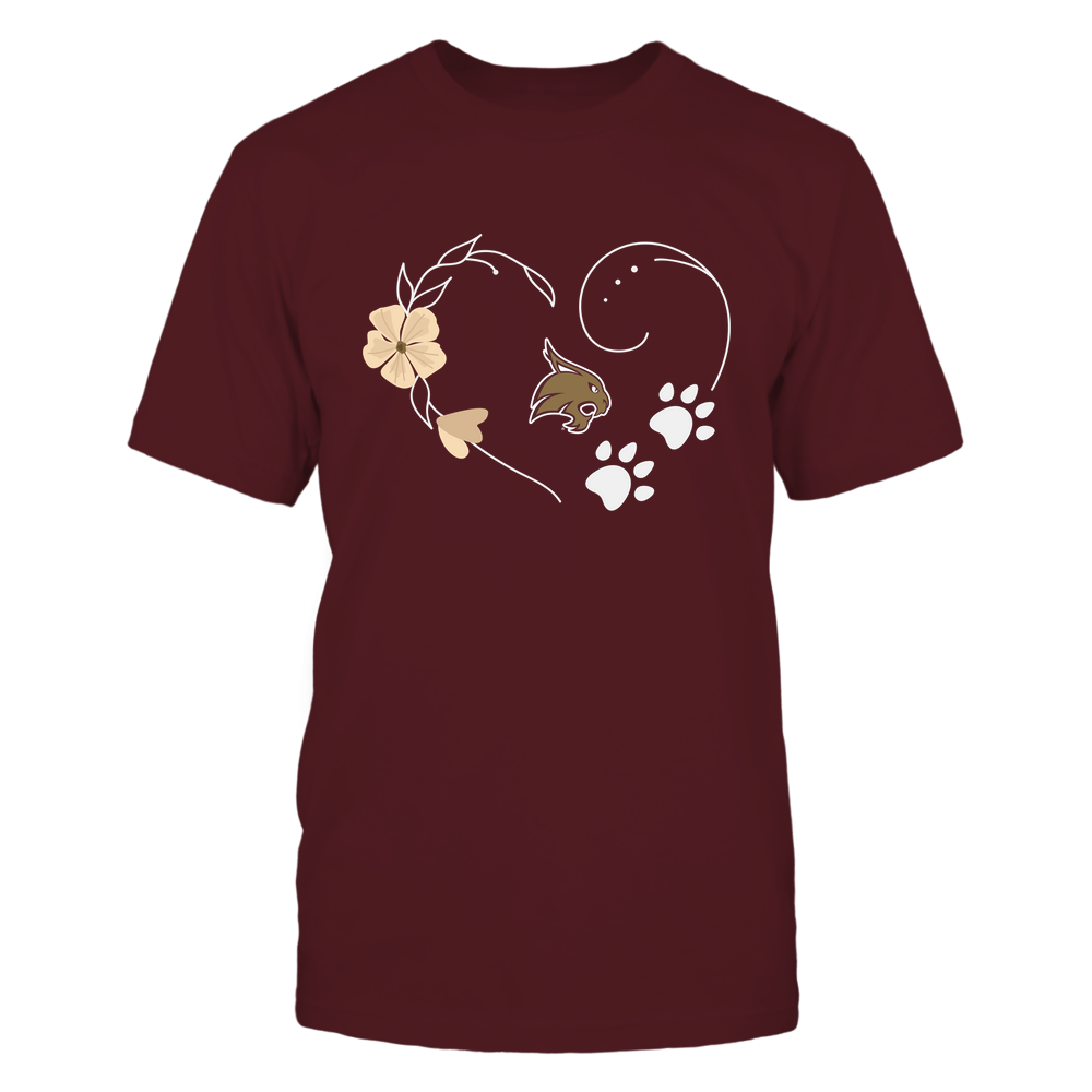 Texas State Bobcats - Flower-Heart-Paw-IF32-IC32-DS64 Front picture