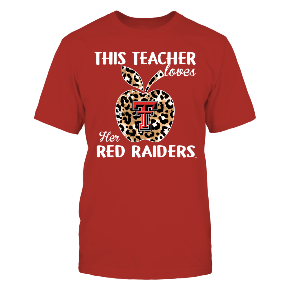 Texas Tech Red Raiders - Teacher - This Teacher Loves Her Team - Leopard Apple - IF13-IC13-DS83 Front picture