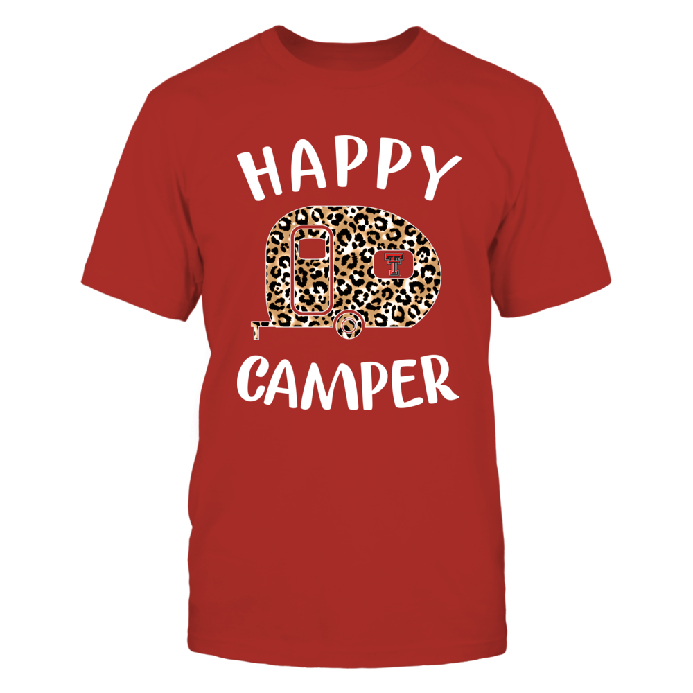 Texas Tech Red Raiders - Camping - Happy Camper - Leopard Camping Car - IF13-IC13-DS45 Front picture
