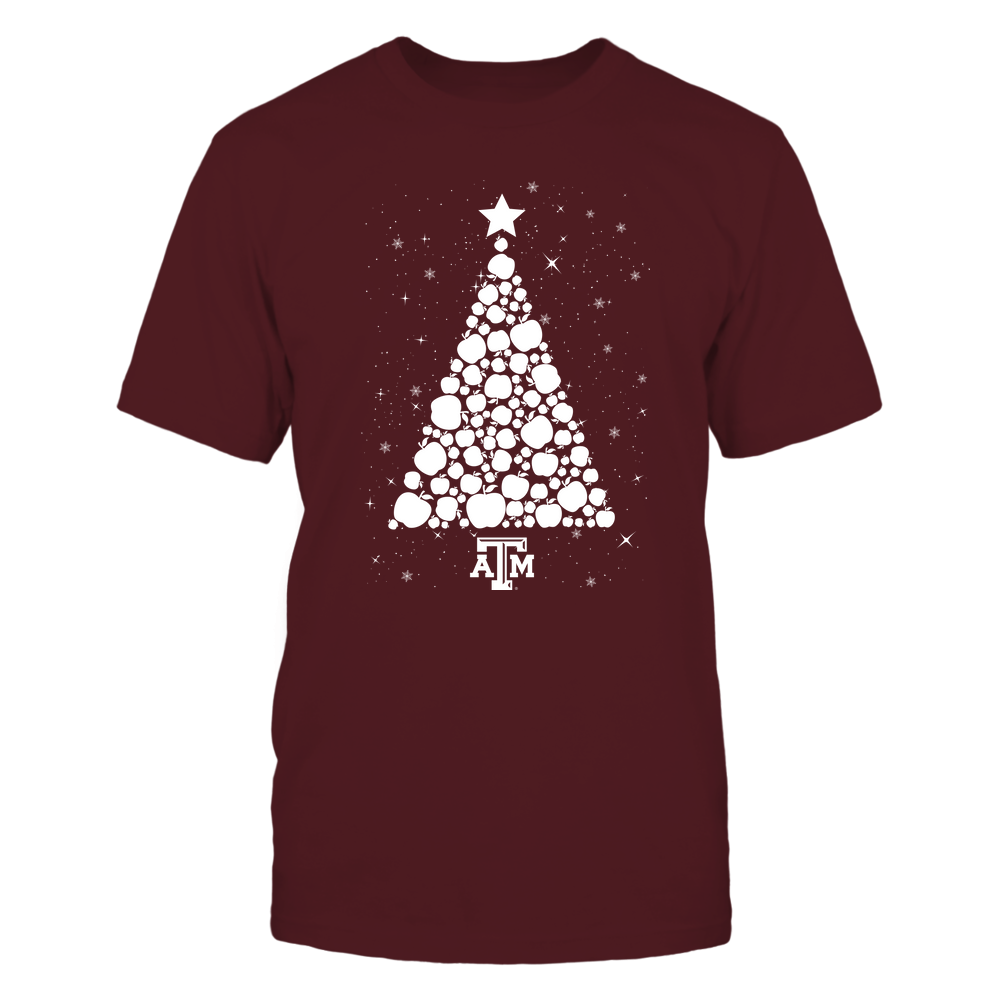 Texas A&M Aggies - Xmas-Teacher-Apple-Christmas-Tree-IF13-IC13-DS45 Front picture