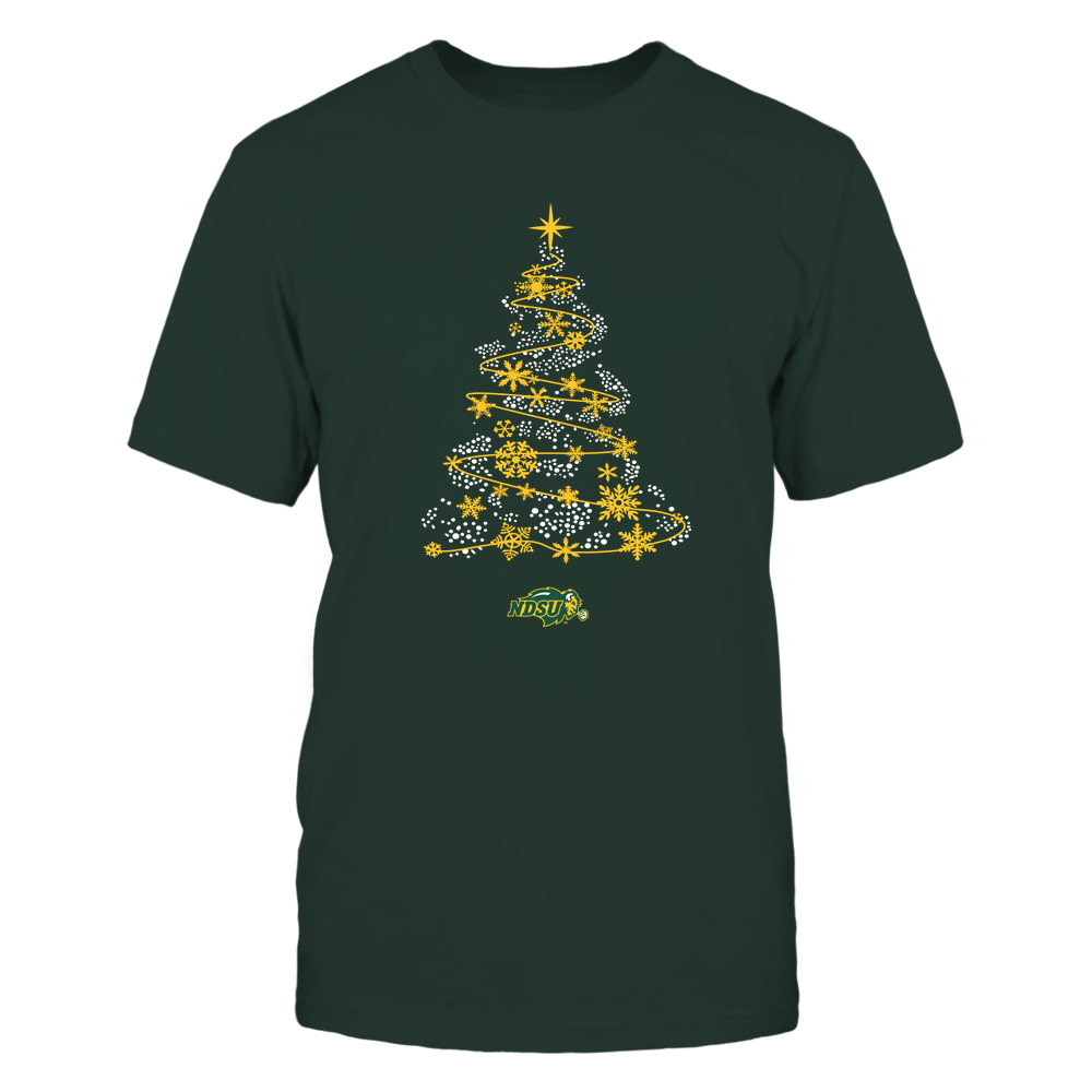 North Dakota State Bison - 19093010177 - Sparkling Christmas Tree  - IF13-IC13-DS45 - APCX Front picture