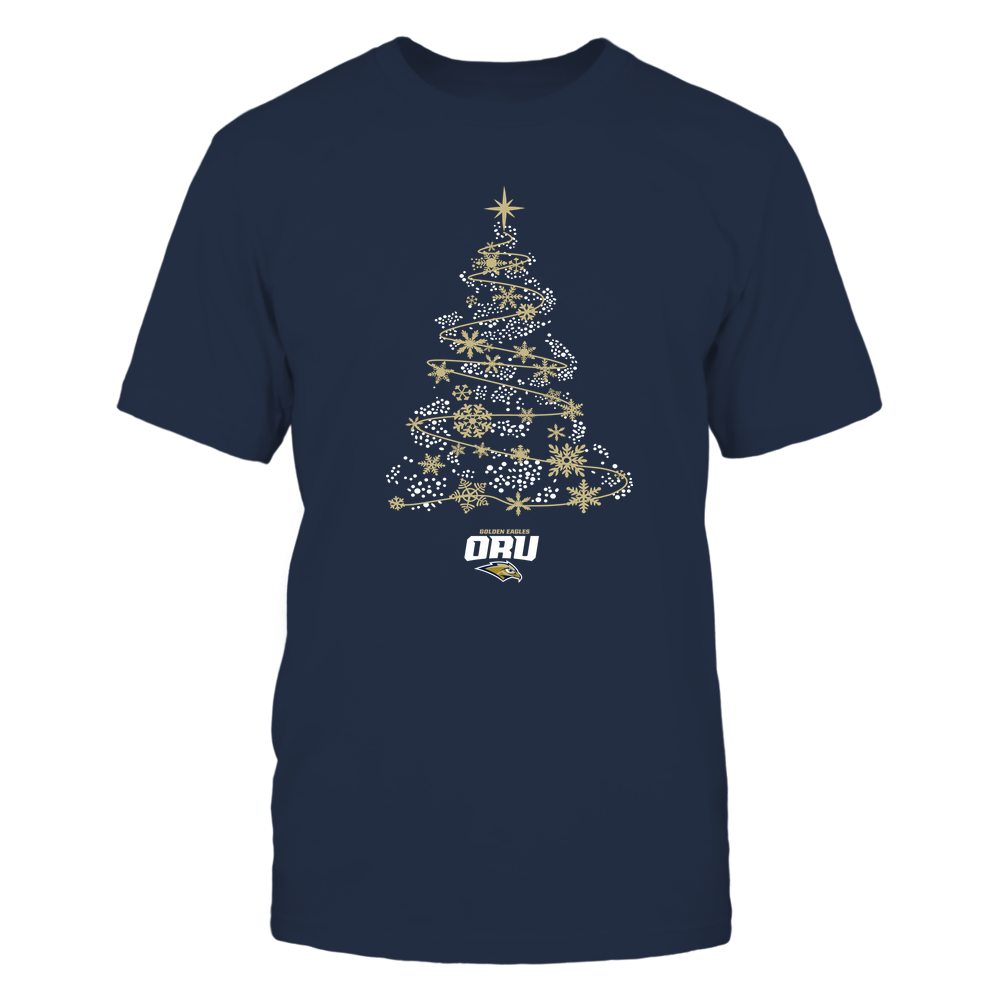 Oral Roberts Golden Eagles - 19093010177 - Sparkling Christmas Tree  - IF13-IC13-DS45 - APCX Front picture