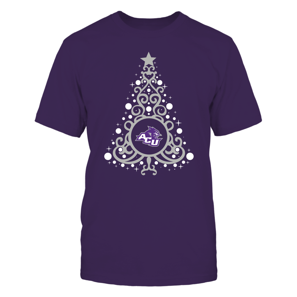 Abilene Christian Wildcats - 19093010176 - Xmas - Swirl Christmas Tree  - IF13-IC13-DS27 - APCX Front picture