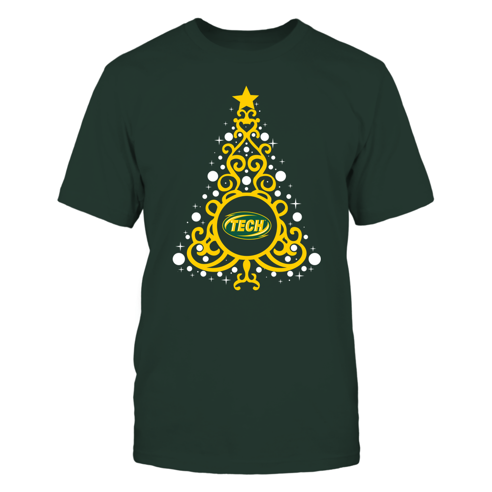 Arkansas Tech Golden Suns - 19093010176 - Xmas - Swirl Christmas Tree  - IF13-IC13-DS27 - APCX Front picture